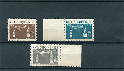 Stamps Humorous Albania 1960 Aereo A Reazione 612-14 Mnh Products Are Sold Without Limitations