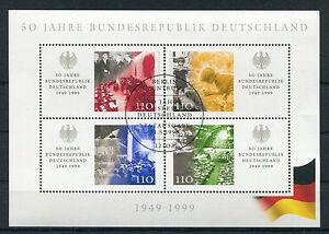 Bund-Block-49-gestempelt-ESST-Berlin-BRD-2051-2054-50-Jahre-Bundesrepublik