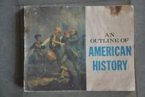 Vintage-039-An-Outline-Of-American-History-039-Litho-B-amp-W-Book