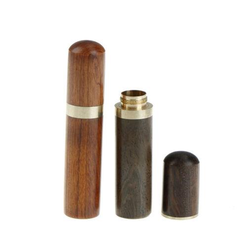 Ebony Wood Toothpick Holder Box Capsule Case Handmade Craft Room Decor  I