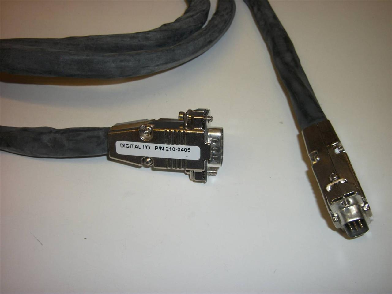 Digital I/O Cable ~ 9 pin 'D' Male to 9 pin 'D' Male ~ 3m ~ P/N 210-0405 ~ NEW