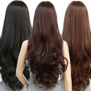 Sexy-Women-039-s-Fashion-Wavy-Long-Straight-Curly-Hair-Full-Wigs-Cosplay-Party-Wig