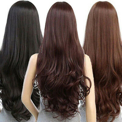Sexy Women S Fashion Wavy Long Straight Curly Hair Full Wigs Cosplay Party Wig Ebay