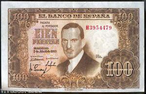 100 Pesetas 7 Abril 1953 Romero Torres @ Excellent @ sts0brH4-07134332-621492379