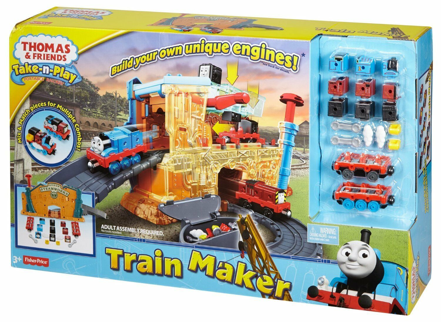 THOMAS und seine Freunde LOKOMOTIVEN FABRIK Spiel Set Take-n-Play FISHER PRICE