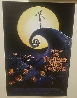 NIGHTMARE BEFORE CHRISTMAS 22x34 MOVIE 15488 RIP CHARACTER COLLAGE POSTER