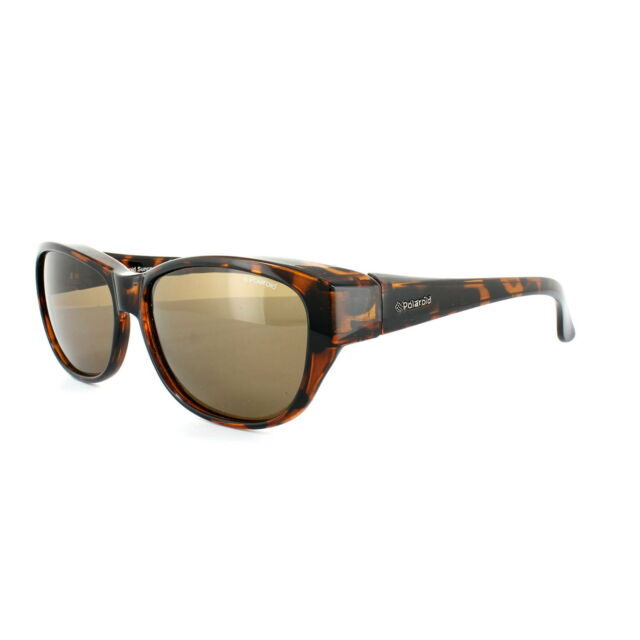 bceeef6904ad Polaroid Suncovers Fitover Sunglasses P8407 0bm IG Dark Havana Brown  Polarized for sale online