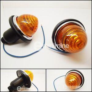 Classic-Mini-Front-Indicator-Complete-Unit-PAIR-1959-1986-CHM13-Amber-Plastic