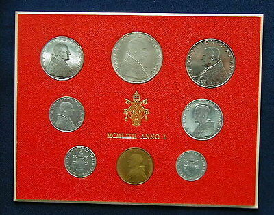 1992 Italy Vatican complete set coins UNC with silver in official box
