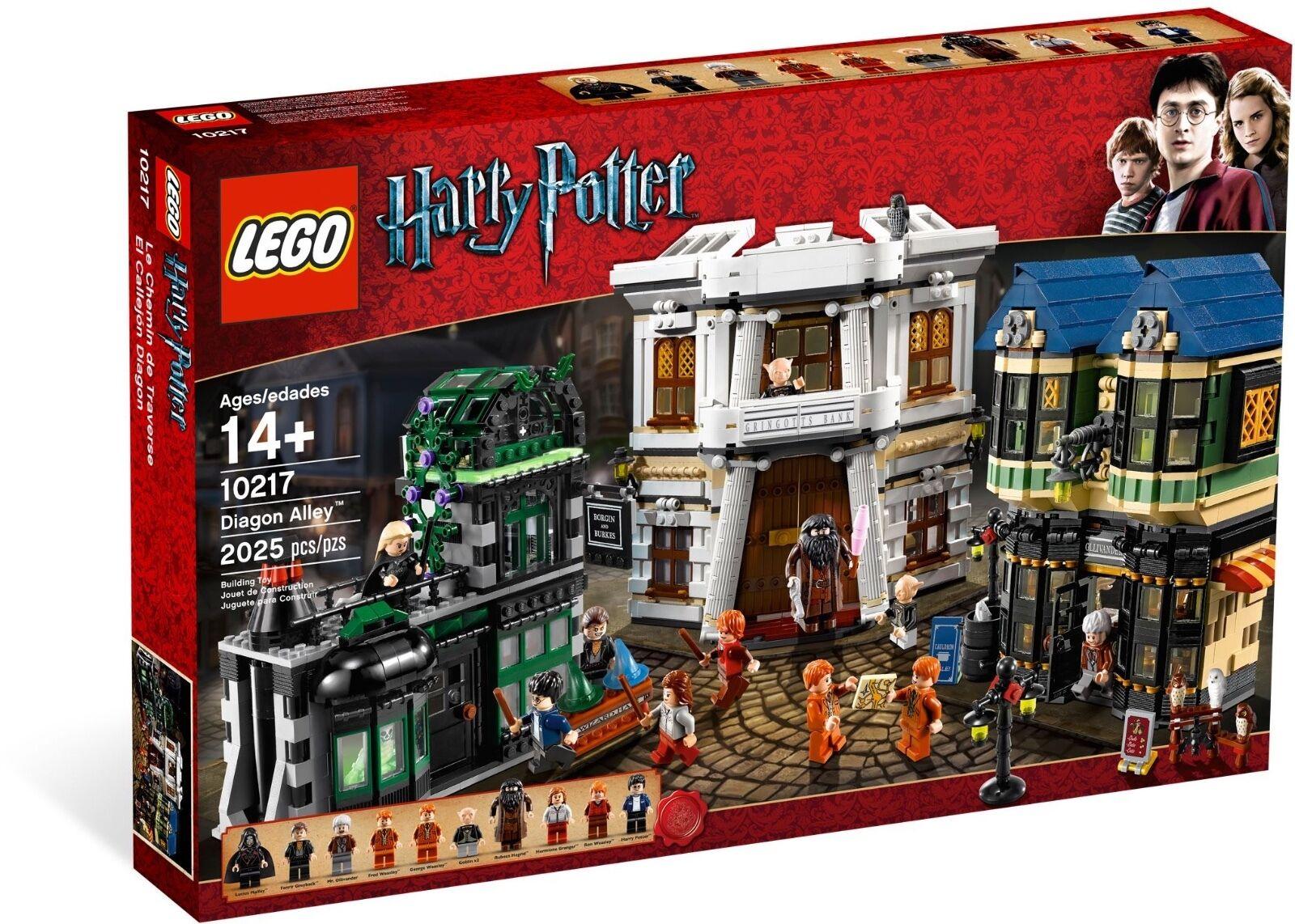 Nuevo  Lego Harry Potter Diagon Alley 10217  Caja tiene abolladuras y o pliegues