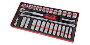 33-Pieza-034-Drive-Socket-Set-Con-Trinquete-Accesorios-Y-Estuche