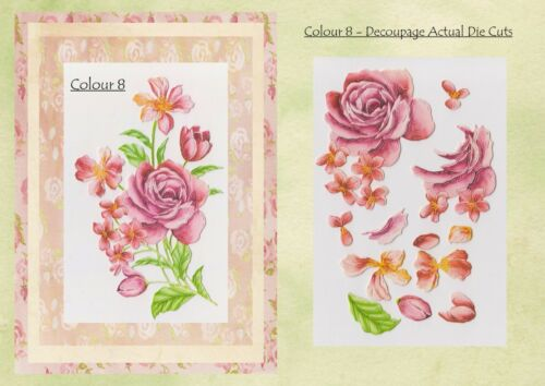 1 or 2 Decoupage Die Cut Sets x 1 Set of 10 Tattered Lace Rainy Days PURITY