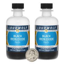 Iron Oxide Black 8 Oz 2 Bottles 99 Pure Reagent Grade 44 Micron Powder