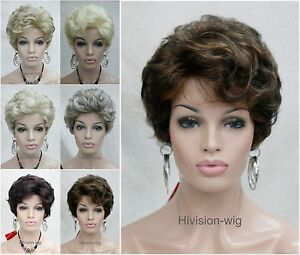 6-Colour-Short-Curly-Fluffy-Women-Ladies-Daily-Hair-wig-Hivision-5250