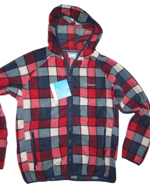 6086c76db60536 Columbia Mens Buckeye Springs Full Zip Fleece Hooded Jacket Large Retail