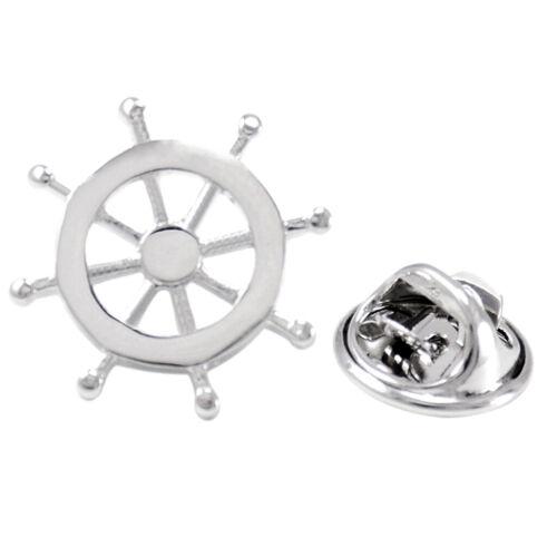Schiff Lenkrad Abzeichen Corsage Kragen Brosche Label Pin Hochzeit Mens