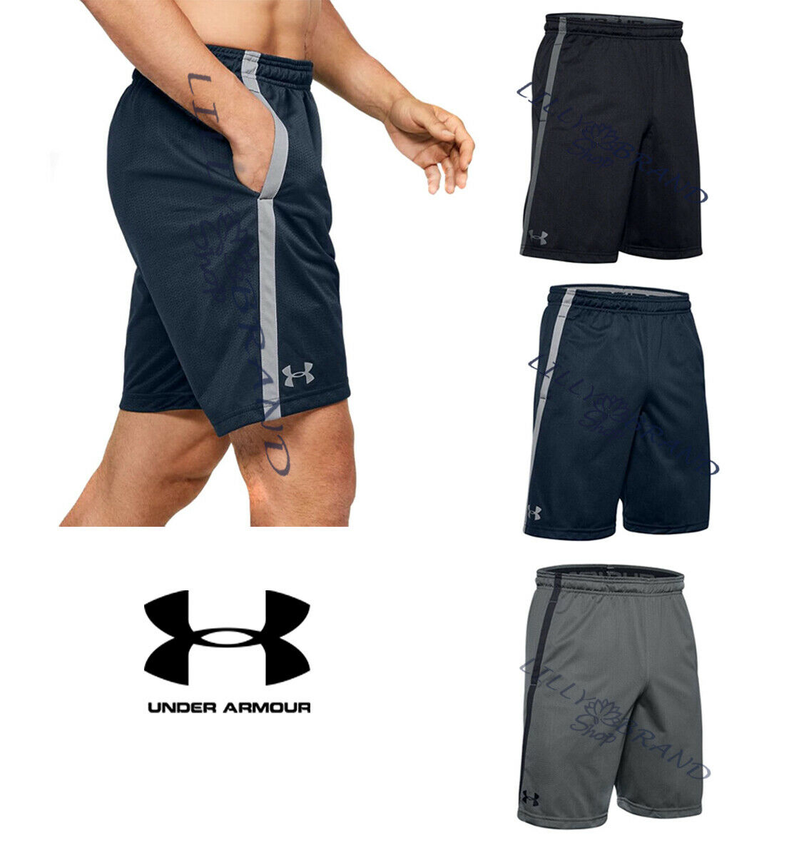 "New Under Armour Speedpocket 9/"" Running Shorts 1297057 Gray Men/'s Small 2XL  $45"