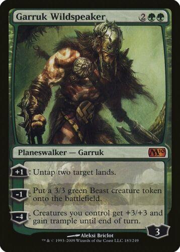 M10 PLD Green Mythic Rare MAGIC CARD ABUGames Garruk Wildspeaker Magic 2010