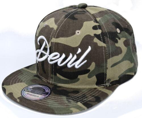 Cap Cappy Caps Kappe Cap Camo Grün Militär Engel Teufel Devil Angel Paar 53-63cm