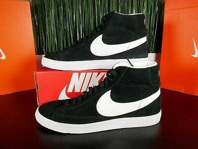 Nike Blazer Mid Premium Retro Black White Mens Shoes 429988 006 Multi Size | eBay