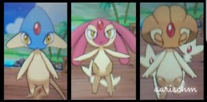 Details about Pokemon all 3 shiny Mesprit Azelf Uxie 6IVs Sun Moon & Ultra  DS game trade