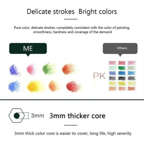 Colored Pencils Multicolor Water-soluble Professionals Artist Drawing Pencils
