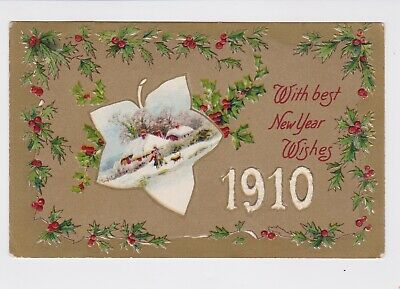 circa 1910,great condition John Winsch Happy New Year Antique booklet style postcard