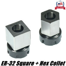 New Er 32 Square Hex Collet Block Chuck Holder For Cnc Lathe Engraving Machine