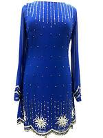 New Blue 1920's Gatsby fully embellished shift dress sizes 8 10 12 14 16 18 20