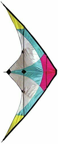 Stunt Kite - 120 x 60 cm Dual Line Kite - High Flying Kite with multi coloured p