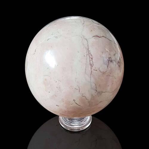 Sfera in Marmo Nembro Rosato con Base Italian Rosy Marble Sphere D.12cm
