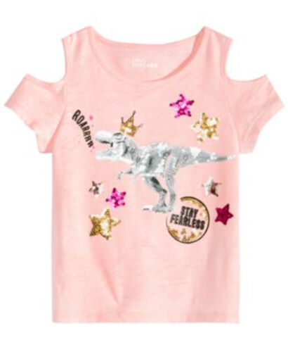 3T NEW Epic Threads Toddler Girls Sequins Graphic Print Top 2T