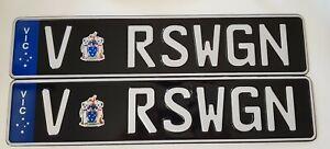 VRSWGN-Euro-European-Number-Plate-Custom-VIC-Victoria-Skoda-Audi-Holden-RS-WAGON
