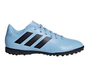 Adidas-NEMEZIZ-TANGO-18-4-TFJ-DB2400-Celeste-Bambino-Sportive-da-Calcetto