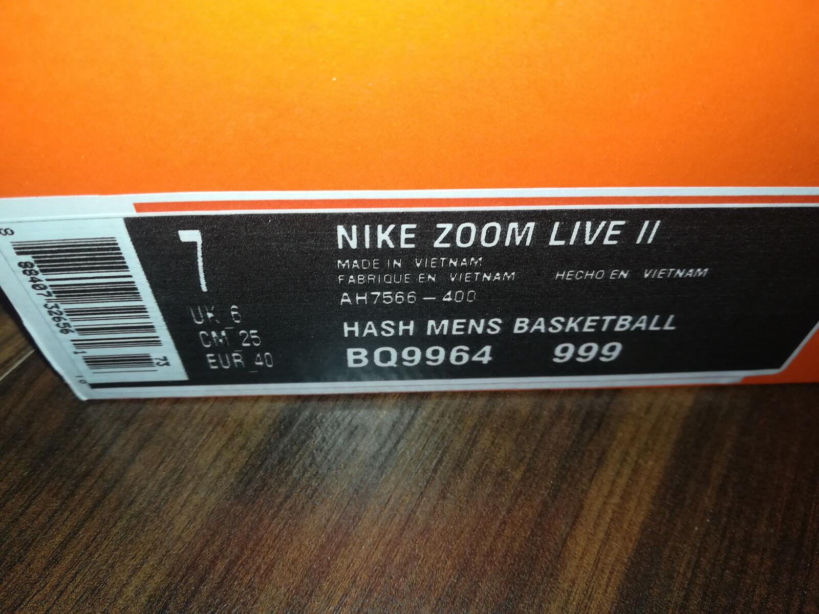 NIKE Zoom Zoom Zoom Live II Uomo Scarpe da pallacanestro ah7566-400 NUOVO BLU TG. 40 | Regalo ideale per tutte le occasioni  | Sig/Sig Ra Scarpa  337f9d