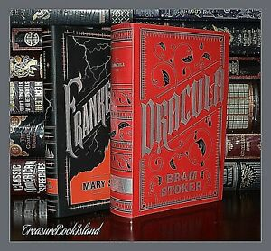 New-Dracula-amp-Frankenstein-by-Stoker-amp-Shelley-Soft-Leather-Collectible-Set