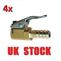 4x Tire Valve Air Chuck Connector Car Truck Airline Inflator 8mm Brass Clip-on