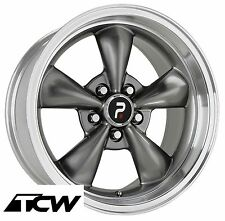"(4) 17x8"" inch Bullitt Replica Silver Wheels Rims 5x4.50"" fit Ford Mustang 65-73"