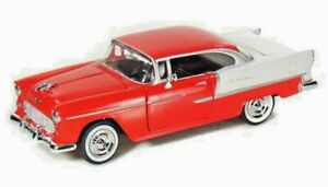 RED-1955-Chevy-Bel-Air-Die-cast-Model-Car-1-24-Scale-Motormax-8-inch-NO-Box
