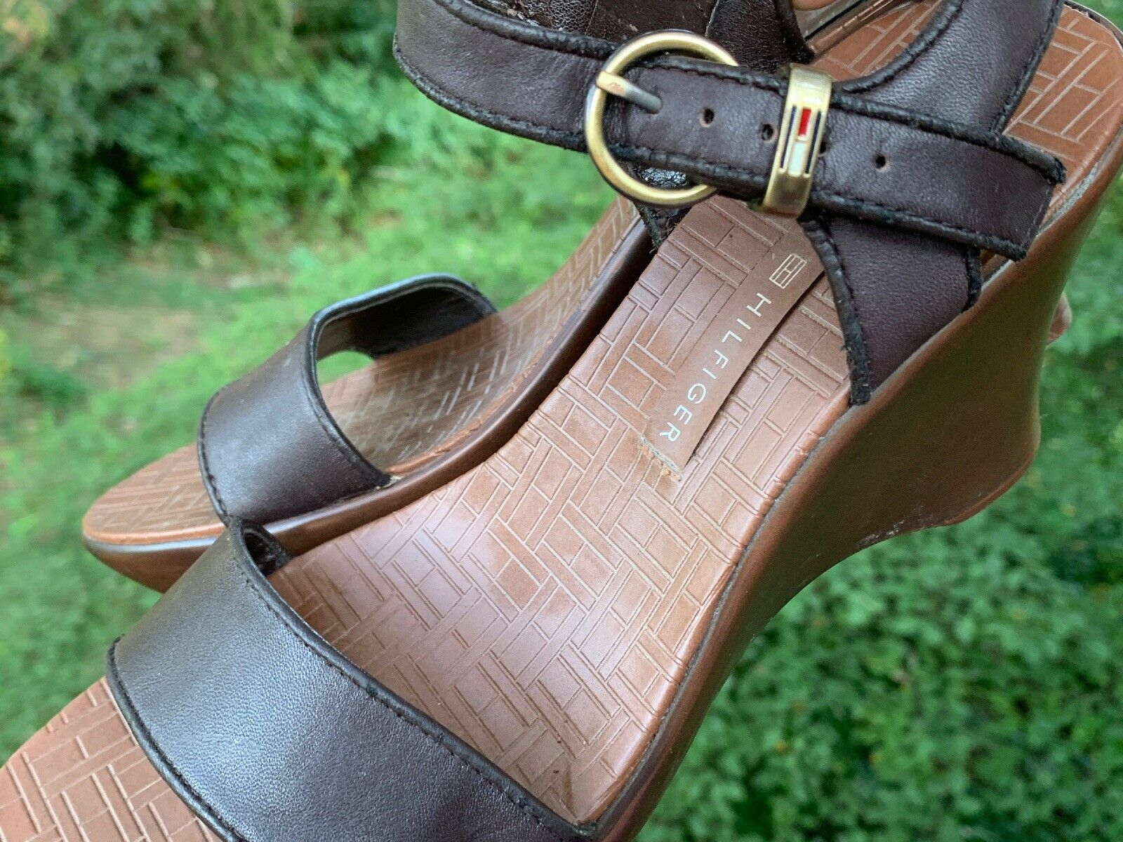 TOMMY HILFIGER Leather Slingbacks Clogs Mules Wed… - image 9