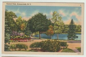 1944-Postmarked-Postcard-Central-Park-Schenectady-New-York-NY