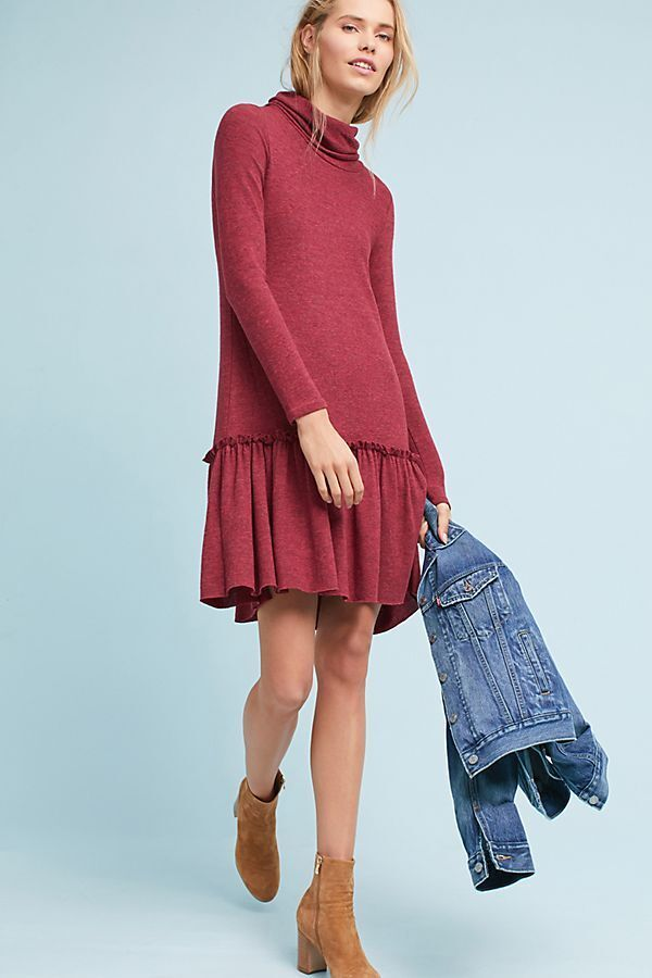 New Anthropologie Turtleneck Drop-Waist Dress by Sunday in Brooklyn. Small
