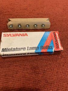 Miniature Lamp Bulbs No # 51 Box Of 10 New Sylvania Bulbs