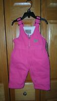 C.e.schmidt Infant Pink Sherpa-lined Insulated Coveralls Size 12 Month