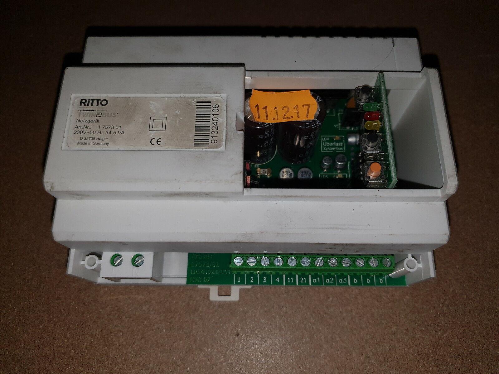 Ritto 1 7573 01 Twinbus Netzgerät Netzteil Trafo 230V 34,5 VA 7573.01 1757301 oD