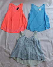 Lot of 3 Women's Abercrombie & Hollister Lace Fashion Tops Size L New with Tags