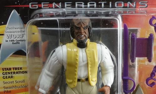"Generations Worf 19th Century Star Trek 1994 5/"" Playmates Star Trek Unopened"