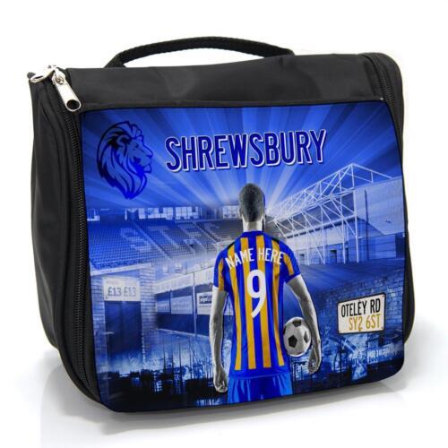 Shrewsbury Football Lavage Sac homme de voyage toilettage Case AF116 Personnalisé