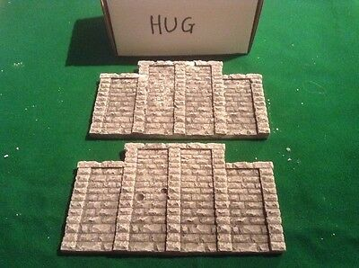 Responsabile Oo Scale,ho Gauge Rough Stone Bridge Support Wall X2 - Painted Lg Size Da Processo Scientifico