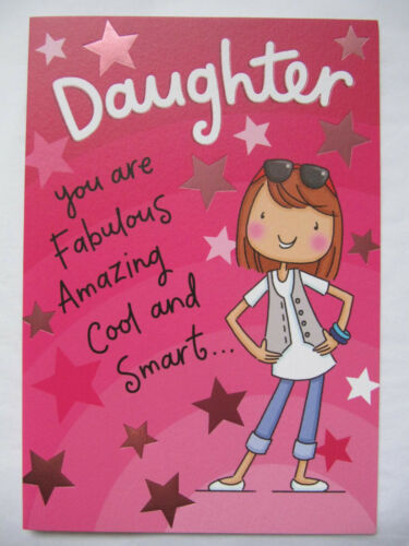 Coloré drôle fille vous êtes amazing cool smart anniversaire carte de vœux
